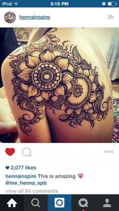 Back henna ! Smaller scale this would be a pretty cool tattoo