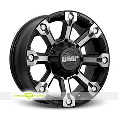 Gear Alloy 719 Back Country Machined Black Wheels For Sale- For more info: http://www.wheelhero.com/customwheels/Gear-Alloy/719-Back-Country-Machined-Black