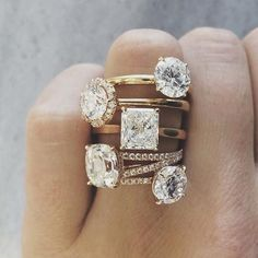So in love with the middle square ring. So gorgeous.