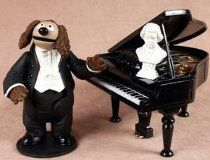 Palisades Muppet Show ROWLF THE DOG with Baby Grand Piano & Beethoven Bust Action Figure From Muppets Price:$99.99