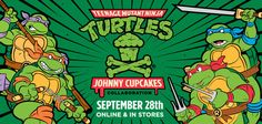 Johnny Cupcakes is the World's First T-Shirt Bakery! We bake apparel dripping with sweet pop-culture references and serve 'em with a smile. Johnny Cupcakes, Pop Culture References, Pop Culture Art, Designer Toys, Teenage Mutant Ninja Turtles, Tmnt, Vinyl Figures, Art Blog, First World