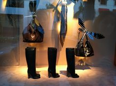 Awesome dragonflies in the window at Gucci Beverly Hills, August 2012.