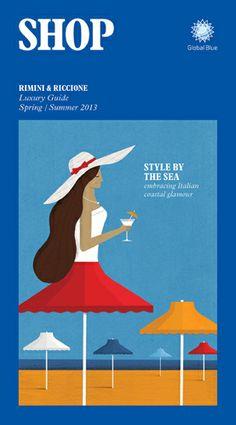 Magazine cover for SHOP magazine. Rimini and RIccione. Jamie Jones illustration.