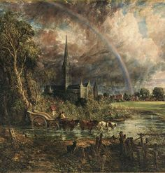"Art History Gallery on Instagram: ""John Constable (1776–1837): Salisbury Cathedral from the Meadows, 1831, Oil on canvas, 153,7 × 192 cm, Tate Britain, London . . John…"" Landscape Art, Landscape Paintings, John Constable Paintings, Salisbury Cathedral, Museum Studies, Art Fund, Tate Gallery, William Turner, Chef D Oeuvre"