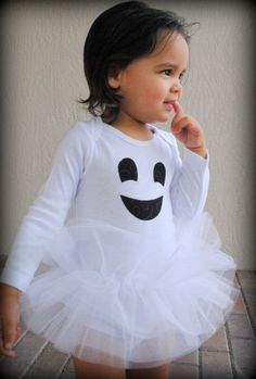 Items similar to Friendly Ghost Baby Girl Tutu Bodysuit - Halloween Ghost Costume - Sizes Newborn - 24 Months on Etsy Disfarces Halloween, Ghost Halloween Costume, Ghost Costumes, Cute Costumes, Halloween Outfits, Holidays Halloween, Costume Ideas, Vintage Halloween, Vintage Witch