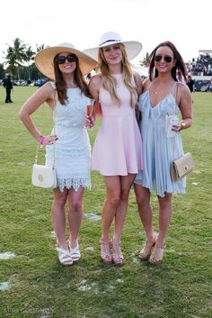 What to Wear to a Polo Match -  Outfits with Lilly Pulitzer - preppy fashion pastel dresses, wedges and big hats