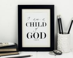 Framed Spring Bible Verse Chalkboard Print by inspirationalmemory