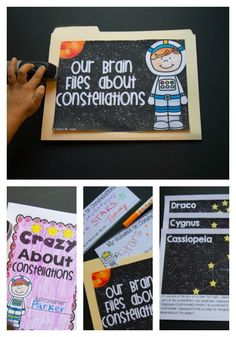 Looking for a fun and engaging way to teach constellations? This resource begins by sharing students' schema about constellations. There are 13 different posters (including Ursa Major/Minor, Cassiopeia, Orion) for you to print and display. Ursa Major, Health And Fitness Articles, Learning Objectives, Teacher Binder, Healthy Eating For Kids, Our Solar System, What Happens When You, Recipe For 4, Constellations