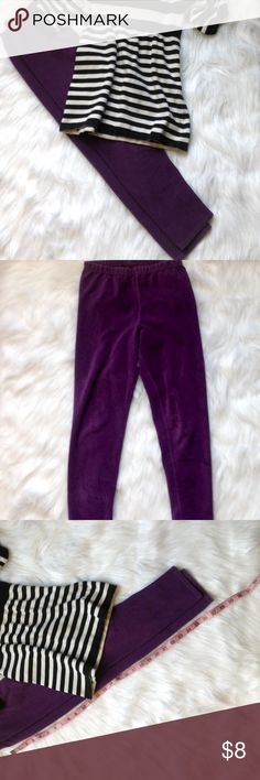Girl,s stretch corduroy leggings Great condition. See pics for length. Bottoms Leggings