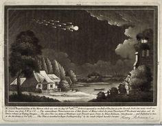meteor shower . Winthorpe, UK . August 18, 1783