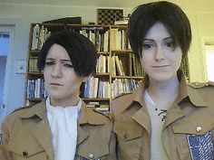 Eren: I'm not going to smell him Levi: Thank you. [Looks away] Eren: Yes