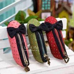 Moldes Para Artesanato em Tecido: Porta lápis em formato de sapatinho com Moldes
