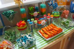 go dog go boys birthday party candy buffet