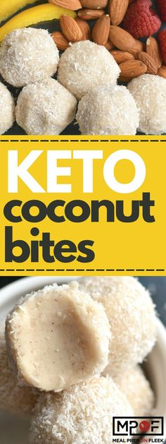 These sugar free coconut balls are naturally sweetened with coconut, cinnamon and stevia. A no-bake, low-carb snack you can& go wrong with! An easy keto snack recipe for the keto diet! Keto Foods, Ketogenic Recipes, Keto Snacks, Healthy Snacks, Snack Recipes, Ketogenic Diet, Dinner Recipes, Dessert Recipes, Protein Snacks