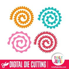Welcome to the Silhouette Design Store, your source for craft machine cut files, fonts, SVGs, and other digital content for use with the Silhouette CAMEO® and other electronic cutting machines. Rolled Paper Flowers, Paper Flowers Craft, Flower Crafts, Diy Flowers, Fabric Flowers, Felt Flower Template, Flower Svg, Flower Stamen, Silhouette Cameo Projects
