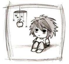 Chibi Death Note XD XD XD adorable!