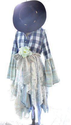 Fall jacket Gypsy vagabond County chic coat by TrueRebelClothing