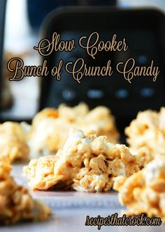Slow Cooker Bunch of Crunch Candy #CrockPot #SlowCooker