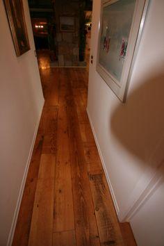Reclaimed wide plank fir flooring