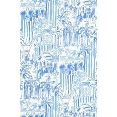 Lee Jofa LA VIA LOCA BEACH BLUE Wallpaper