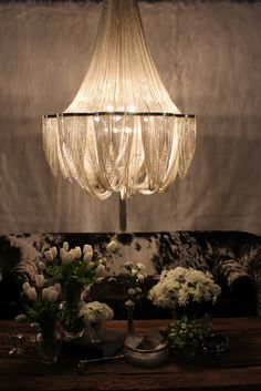 Just so Beautiful! Chain Lighting for the Home. http://pinterest.com/intlhomeshow/