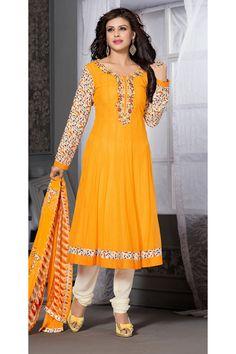 yellow Designer party wear salwar kameez From Onlinesareessshopping.com