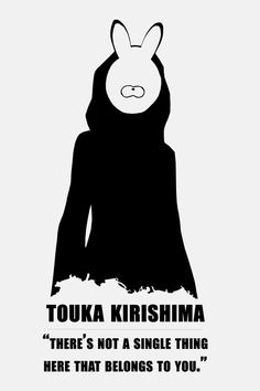 Não há uma única coisa aqui que pertence á você - Touka Kirishima<3   Tokyo Ghoul
