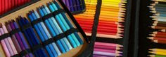My favorite color is all of them. Organized in a Global Art leather pencil holder.