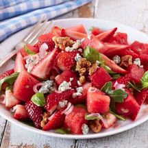 Summer Loving Strawberry Salad - Don't let summer pass by without serving this refreshing strawberry and melon salad at least once or twice!