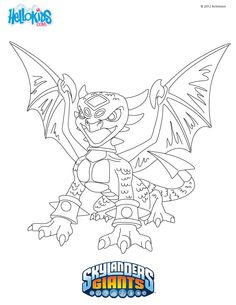 CYNDER Coloring Page If You Like Challenging Pages Try This We Have Lots Of Nice Printables In Skylanders GIANTS