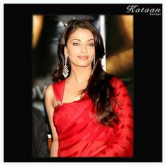 #Aishwarya Rai flaunting her beauty in a RED saree
