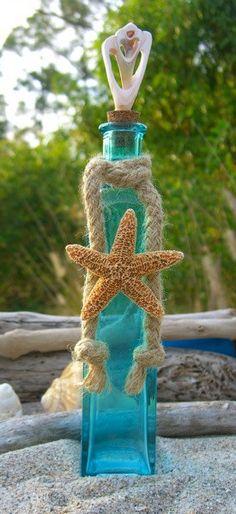 Starfish Seashell Tiffany Blue Glass