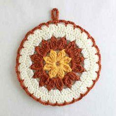 Best Free Crochet » Free Crochet Pattern Strawflower Potholder #38