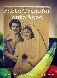 Photo Transfer onto wood: tutorial