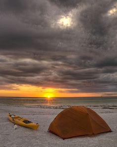 All the best things combined - Beach, Kayak, and Camping :)