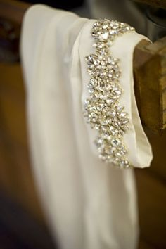 Gorgeous cuff detail that doubles as a weighted hem. Someone's clever.