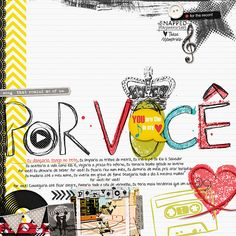1 photo + lettering + stamps