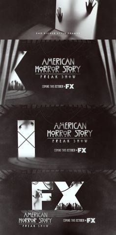 AMERICAN HORROR STORY - FREAK SHOWPromo Graphics Package (V2)Client: FX NetworksStudio: SarofskyProducer: James BabiarzCreative Direction: Erin Sarofsky The concept is a bunch of freaks inside a box, we only see their shadows.