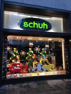 @schuh windows have been invaded by Santa hat wearing aliens and Christmas puddings. We LOVE it!!