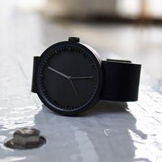 Leff Tube D42 Matt Black /Black | Clockwize Watch Shop