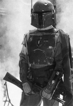 Boba Fett looking classy in black and white