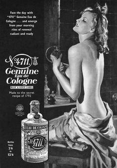 Advertisement for 4711 Eau De Cologne. Published by Britannia & Eve magazine, September 1939.