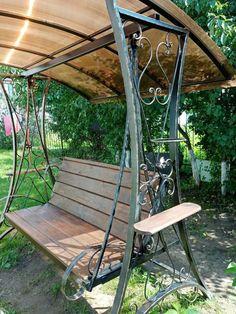 Мебель Для Двора, Металлические Двери, Садовые Качели, Дизайн Двери, Скамейка, Железо