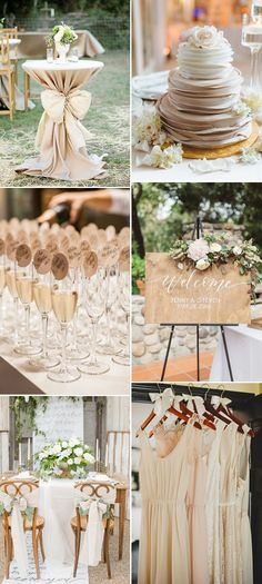champagne neutral wedding color ideas for 2017 trends