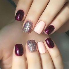 Best Fall Nails for 2018 - 45 Trending Fall Nail Designs - nail art galleries Shellac Nails, Acrylic Nails, Nail Polish, Coffin Nails, Shellac Nail Designs, Stiletto Nails, Nails Design, Fall Nail Art, Fall Nail Colors