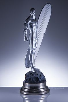 Marvel Comics Art, Marvel Comic Books, Comic Book Heroes, Marvel Characters, Marvel Statues, Sculpture Painting, Silver Surfer, My Favorite Image, Comic Art