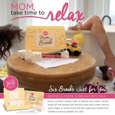 CALLING ALL MOMMIES!!!! Posh has just launched a amazing Bubble Bath Bar that will give you your mommy me time you need! You Deserve a Break. Hurry! Get them while supplies last. Just $12 each  Enjoy a blissful, bubbly bath of berries and creme. Simply break off one square from the brick and drop under running water. Relax in sweet scent and skin softening. Sulfate-free. Creates luxurious bubbles. Six uses. Perfectly Posh Bubbling Berries Bath Bar