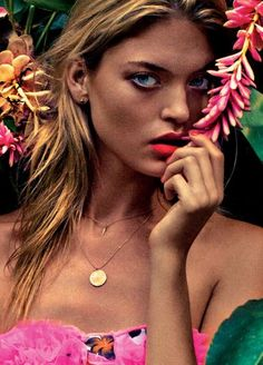 One-with-Nature Photoshoots - The Elle UK June 2012 Hunt Editorial is Wild #elleuk #MarthaHunt #fashion