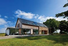 "Building commenced in 2007 on this timber framed ""ECO House"" in rural County Down. The imaginative design from BGA Architects created a superb family home. House Designs Ireland, Self Build Houses, Contemporary Barn, Rural House, Planning Permission, Building A New Home, Stone Houses, New Builds, Home And Family"