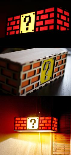 No mushrooms will come out of this Item Box, so it's best not to go punching it from below! If Mario already lights up your life, give him a shot at home and light up a desk or the room with these Super Mario question block lamps. #supermario #nintendo #mario